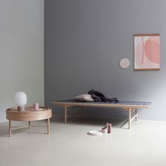 Menu Daybed, natural oak / grey wool | Sofas | Furniture | Finnish Design Shop