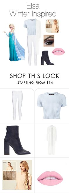 """""""Elsa Winter Inspired!❄️"""" by jazzrodgers ❤ liked on Polyvore featuring Disney, 10 Crosby Derek Lam, Proenza Schouler, Zara, WearAll and Hershesons"""