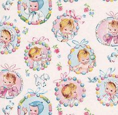 Vintage Gift Wrap Baby Teething Rings by hmdavid, via Flickr