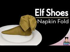 Elf Shoes Napkin fold Tutorial #17 - YouTube Folding Napkins, Elf Shoes, The Creator, Youtube, Youtubers, Youtube Movies