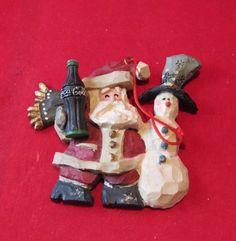 ✅ Kurt S. Adler Coca-Cola Christmas Village 1998 Santa & Snowman ornament. ~ eBay: anthony31853/LOL Magic Shows P5+3 Feb '17