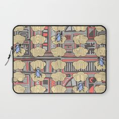 Angels protect 'na scamaill sa speir'_red version Laptop Sleeve