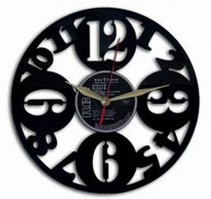 Relógio com números  disco de vinil relógio de by VinylImage