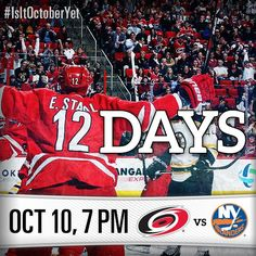 Only 12 more days until the #Canes take on the Islanders for Opening Night! #Canes101014