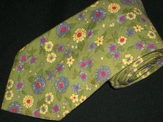 Vintage Gap Tie Floral 100 Cotton Mens Green by TheTieParadise