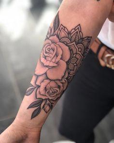 rose mandala tattoo arm / rose mandala tattoo & rose mandala tattoo sleeve & rose mandala tattoo shoulder & rose mandala tattoo forearm & rose mandala tattoo design & rose mandala tattoo arm & rose mandala tattoo back & rose mandala tattoo men Mandala Flower Tattoos, Forearm Flower Tattoo, Inner Forearm Tattoo, Forearm Sleeve Tattoos, Mandala Tattoo Shoulder, Mandala Rose, Rose Sleeve Tattoos, Disney Mandala Tattoo, Rose Tattoo Shoulder