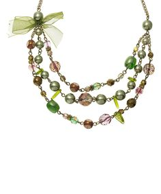 Love this Green & Smoky Quartz Czech Crystal Layered Statement Necklace by Merx on #zulily! #zulilyfinds
