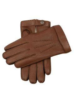 Gants homme cousus main en cuir de daim