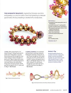 CHANCE FOR ROMANCE Bracelet - FREE Tutorial by Melissa Grakowsky. Page 2 of 3
