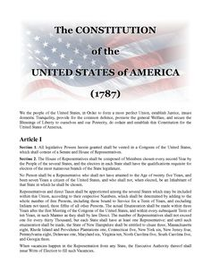 The United States Constitution--Read it to know your rights!