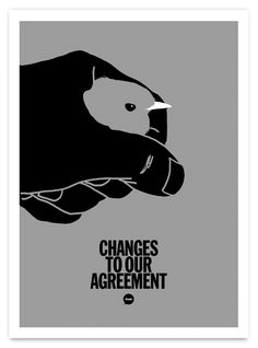 Changes To Our Agreement — Art print for the Silver & Black show at Archipelago Works, Sheffield, curated by Kid Acne.