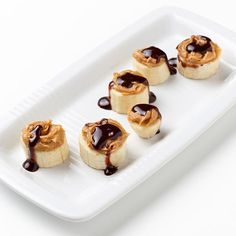 Peanut butter, chocolate & bananas! We love this snack at our house!