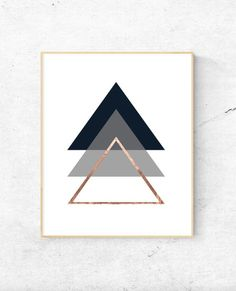 Free Printable Geometric triangles rose gold wall art Informations About Free Modern Wall Art Downlo