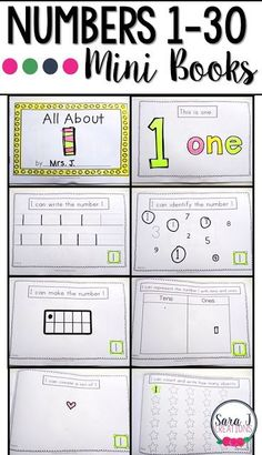 Number books are a great way to practice writing, identifying, counting, drawing, using tens frames and tens and ones to represent numbers Teaching Numbers, Numbers Preschool, Writing Numbers, Math Numbers, Preschool Learning, Kindergarten Math, Teaching Math, Math Activities, Number Writing Practice