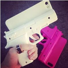 Iphone Case: http://www.glamzelle.com/collections/whats-glam-new-arrivals/products/hand-gun-iphone-phone-case-cover-3-colors-available  Group one Gun-like phone case