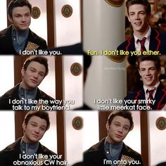 I don't like Sebastian either Kurt. I wish he would stay away from Blaine