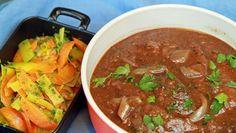 Bestefars bankekjøtt Recipe Boards, Beef Recipes, Thai Red Curry, Meal Planning, Nom Nom, Food Porn, Food And Drink, Yummy Food, Meals