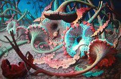 Surrealism and Visionary art: Joep Hommerson Fantasy Landscape, Landscape Art, Modern Art, Contemporary Art, Magic Realism, Illusion Art, Fantastic Art, Awesome, Visionary Art