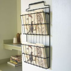 Wisteria - Accessories - Shop by Category - Office & Storage -  Metal Basket Shelf - $44.00