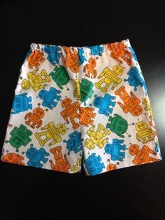 'Retro Robot' Baby Boy Shorts. $13.50 (FREE Shipping within Australia). Handmade. Find us on Facebook; BoyCot Baby.