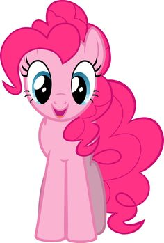 """Pinkie Pie Vector - Smile Parade with the Mane 6 from """"A Friend in Deed"""""""