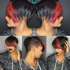 I don't know how she can drive, but this is  #DopeHairFetish
