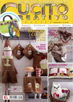 CUCITO CREATIVO FACILE № 63 2013  IDEAS PARA LA COCINA :)