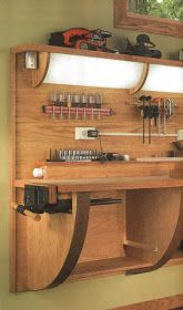 57 clever garage organization with six easy steps to clean and organize your gar. 57 clever garage organization with six easy steps to clean and organize your garage 31 Garage Workshop Organization, Diy Garage Storage, Workshop Storage, Workbench Designs, Workbench Plans, Woodworking Bench Plans, Woodworking Projects Diy, Garage Atelier, Support Mural