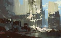 A sketch done for Guild Wars 2 - Theo Prins Environment Painting, Environment Concept Art, Environment Design, Matte Painting, Painting & Drawing, Guild Wars 2, Graphic Artwork, Cg Artist, Environmental Art