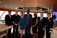 """The elegant ms Amsterdam was the scene for Holland America Line's annual """"President's Event"""" during her 2017 Grand World Voyage. President Orlando Ashford, his wife Samantha, sons Orlando Jr. and Jackson along with Pamela Baade, manager of Holland America Line's manager of corporate giving and I, boarded the vessel in chilly 20-degree temperatures on February 18 in Incheon, South Korea."""