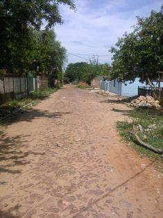 dirt street in Lambare, Paraguay