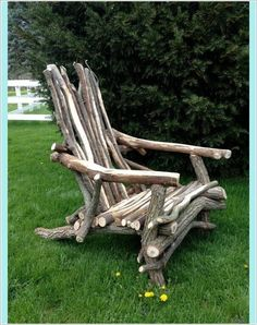 When choosing our new garden chairs, it is not really us …… - Armchair Ideas Willow Furniture, Driftwood Furniture, Rustic Furniture, Garden Furniture, Antique Furniture, Driftwood Crafts, Modern Furniture, Furniture Chairs, Adirondack Furniture