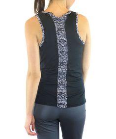 Look what I found on #zulily! Black Shirred Inspire Tank - Women & Plus by Ryka #zulilyfinds