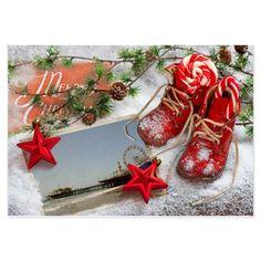 Red Christmas Pier Invitations on CafePress.com