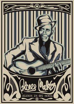 ROBERT JOHNSON VINTAGE DESIGN Rock And Roll Artists, Robert Johnson, Delta Blues, Guitar Art, Malang, Blue Art, Rock N Roll, Vintage Designs, Acoustic