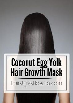 To get long sleek & shiny hair just mix 1 egg yolk with 2 tbsp. coconut oil, and 1 tsp. cinnamon together, then apply the mask to your hair. Start at the scalp and work your way down tot he ends. Mass