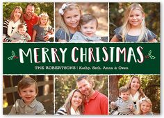 Sweet Holly Frames 5x7 Photo Card by Shutterfly