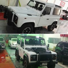 This Defender to have a new. Gloss black roof hood rear door and fender flares.
