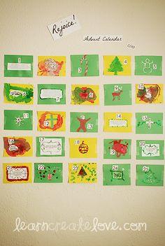 Advent Calendar Craft | LearnCreateLove.com