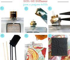 Cómo hacer un difusor para perfumes del hogar reciclando   Aprender manualidades es facilisimo.com