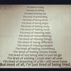 What are you tired of..? by Romii