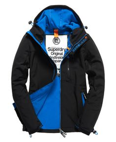 Shop Superdry Mens Windtrekker Jacket in Black denby Blue. Buy now with  free delivery from the Official Superdry Store. e1e7f4b0dd