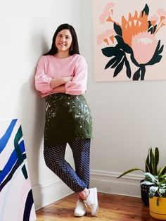 Melbourne artist and textile designer Cassie Byrnes, whose exhibition 'Gondwanaland' opens at TDF Collect on September Photo – Annette O'Brien for The Design Files. Textiles, Baby Quilt Size, Atelier Creation, Pottery Studio, Pottery Clay, Slab Pottery, Business Portrait, Workspace Inspiration, The Design Files
