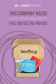 Calling all fashion writers: This company needs someone to write about men's underwear from home. And yes, you'll get to see the photos... @thepennyhoarder