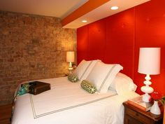 Red bedroom design A super features