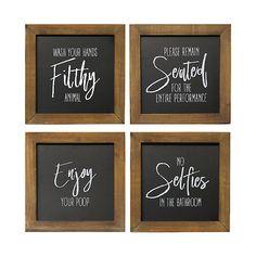 Bathroom Humor, Bathroom Wall Decor, Bathroom Signs, Bathroom Ideas, Small Bathroom, Bathroom Quotes, Gold Bathroom, Bathroom Interior, Bathroom Organization