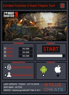 Zombie Frontier 3 Hack 2018 Download. Zombie Frontier 3 Hack Cheats Tool Unlimited Coins, Silver and Gems Hi! Welcome to hackgamenow.com, this is actually the home of the most useful hacks ever created and from now on you are here searching for Zombie Frontier 3 Hack right? Well permit me to tell you a bit secret ok? You stumbled on the right place! We.