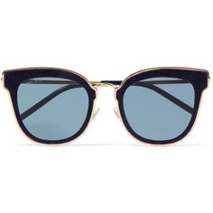 Jimmy Choo Nile cat-eye glittered suede and gold-tone sunglasses (635 CAD) ❤ liked on Polyvore featuring accessories, eyewear, sunglasses, glasses, blue, uv protection glasses, retro style sunglasses, uv protection sunglasses, snake sunglasses and blue cat eye glasses #jimmychooglasses