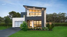 We are passionate about building Display Homes that inspire and provide endless house design ideas for you to experience and imagine your future. My House Plans, Modern House Plans, Minimalist House Design, Minimalist Home, Mcdonald Jones Homes, Smart Home Design, Two Storey House, Storey Homes, Display Homes
