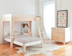 Oeuf Perch Bunkbed The elegant and eco-friendly Perch bunk bed is the perfect centerpiece for any child's room. It's compact footprint leaves plenty of room for play and additional furniture or storage. The versatile Perch easily separates into a loft bed Modern Bunk Beds, Cool Bunk Beds, Bunk Beds With Stairs, Twin Bunk Beds, Bunk Beds For Girls Room, Kid Beds, Girls Bedroom, Bedroom Ideas, Master Bedroom